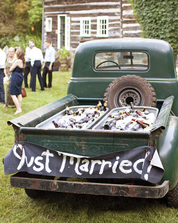 "Loving the ""Truck Cooler"" from Martha Stewart Weddings!"