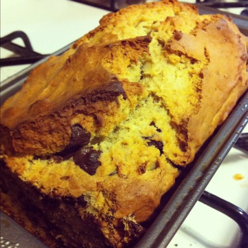 So I made some chocolate chip banana bread. (Taken with Instagram at Do's Throne - Brooklyn)