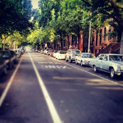 Down these Fort Greene Streets., #Brooklyn #FortGreenePark #FortGreene #NewYorkCity #Summer #Cars  #Streets  (Taken with Instagram at Fort Greene, Brooklyn)