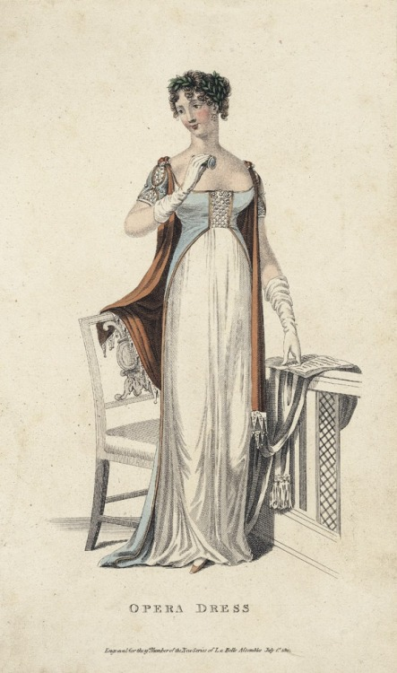 July opera dress, 1811 England, La Belle Assemblée