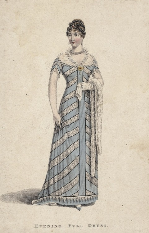Evening full dress, 1811 England, La Belle Assemblée