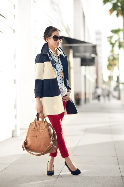 thepreppyyogini:  Adorable. Love it. Great for transitional months (and ever so patriotic!) too.