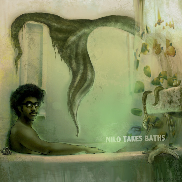 musigraph:  Milo Takes Baths | Milo album cover art 2012 www.miloraps.com Illustration & design by Brittany Parshall www.bparsh.tumblr.com