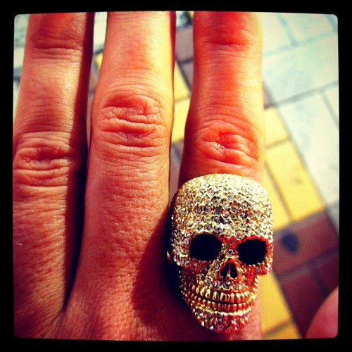 Skull Bling - Bargain shopping in Nampo-dong - Busan, South Korea (ring was 20,000KRW or ~$17) (Taken with Instagram at Nampo-dong Street)