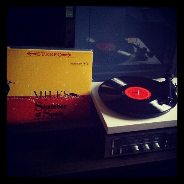 intelligentquartz:  Miles Davis- Sketches of Spain. Sunday afternoon before returning to work. (Taken with Instagram)