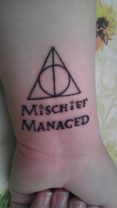 bloodyhellhptattoos:  Done on the day the final movie came out. An ode to my childhood =]