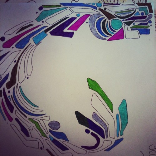 #unfinished #intern #art #patterns #geo #color #teal #aqua #magenta #green #sf  (Taken with Instagram)