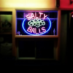 #saltyballs #neon #signs (Taken with Instagram)