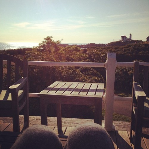 I want this every morning. (Taken with Instagram at Nubble Lighthouse)