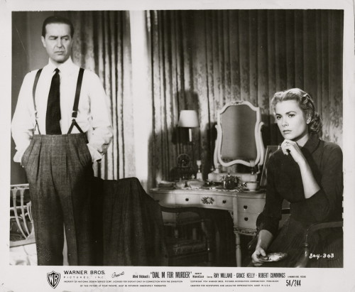 Grace Kelly and Ray Milland in a promotional still for Dial M for Murder.