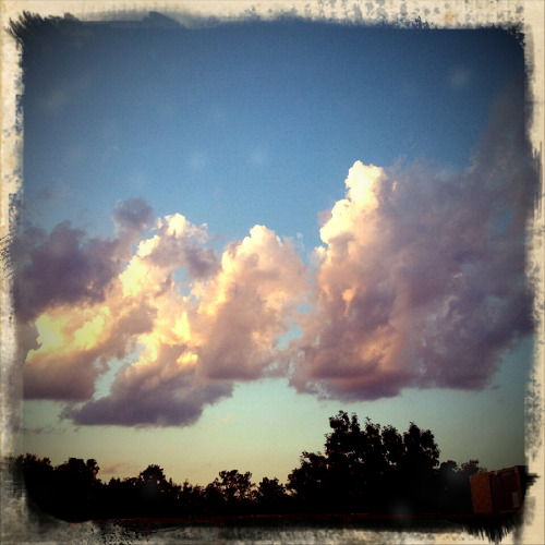 The beautiful sky!  Photographed with Retro Camera for Android. Copyright © Colleen G. Drew
