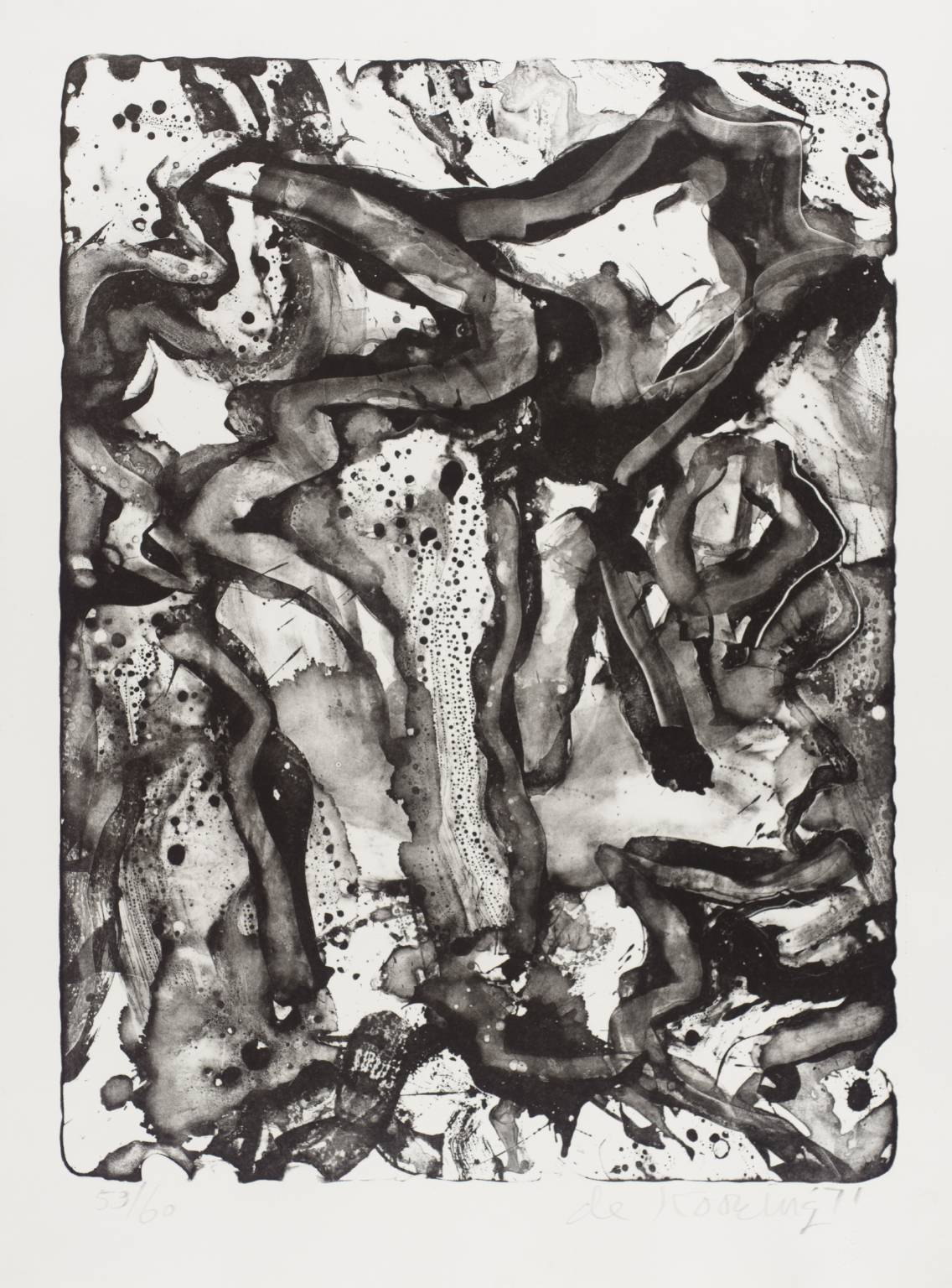 Willem de Kooning - Landscape at Stanton Street, 1971. Lithograph on paper