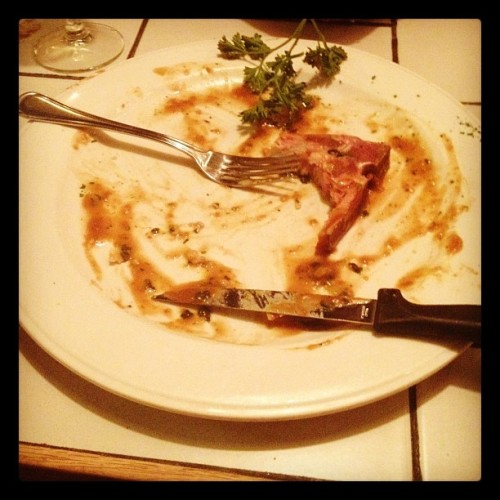 La diner est finis. (@Chalet Alpina) (Taken with Instagram)