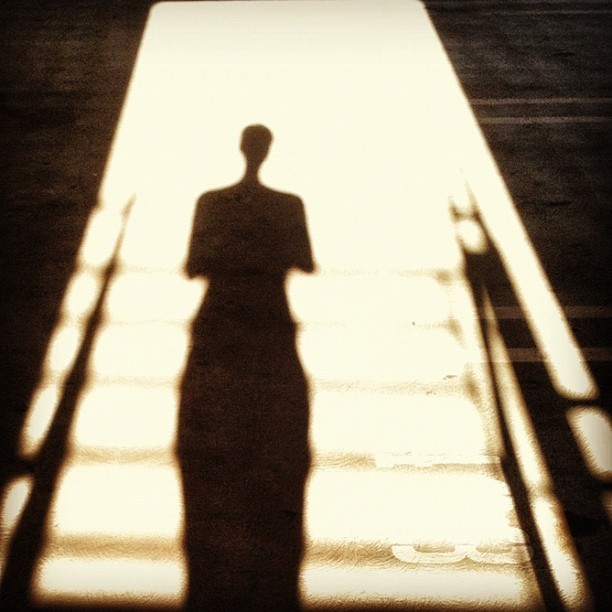 #silhouette #artsy #me #shadow #stairs #awesome (Taken with Instagram at Chapman University)