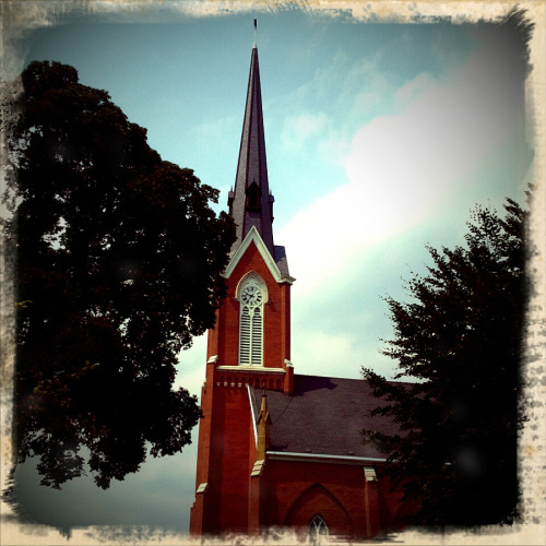 St. Mary's in Columbus, Ohio….photographed with Retro Camera app for Android Copyright © Colleen G. Drew