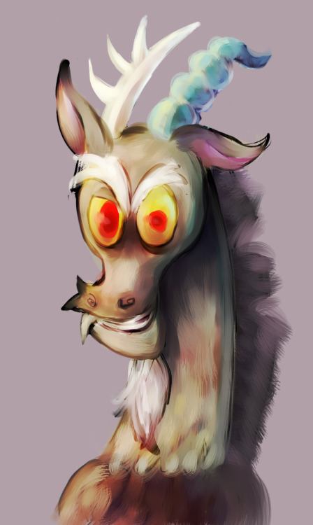 mischievousnight:  My first attempt at drawing Discord. 1/6/12  Fantastic! I like this person and I like their art.