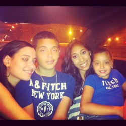 From left to right :) Maria Ramon me and Mariah the cutest back seat crew ever !! :)  (Taken with Instagram)