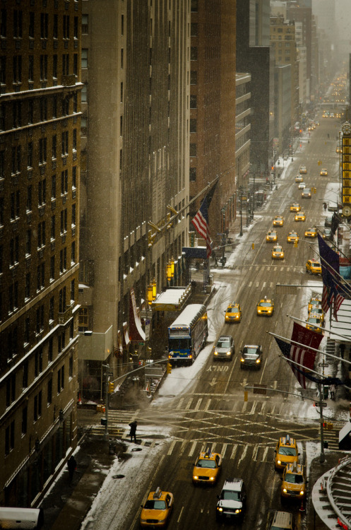 theworldwelivein:  NYC, snow (by Sunset Noir)