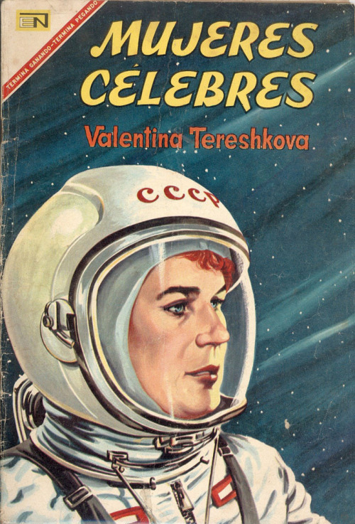 In the memory of Neil Armstrong… Valentina Vladimirovna Tereshkova (Russian: Валенти́на Влади́мировна Терешко́ва; born March 6, 1937) is a retired Soviet cosmonaut and the first woman to have flown in space, having been selected from more than four hundred applicants and five finalists to pilot Vostok 6 on 16 June 1963. In order to join the Cosmonaut Corps, Tereshkova was only honorarily inducted into the Soviet Air Force and thus she also became the first civilian to fly in space.[1] During her three-day mission, she performed various tests on herself to collect data on the female body's reaction to spaceflight. Before being recruited as a cosmonaut, Tereshkova was a textile factory assembly worker and an amateur parachutist. After the dissolution of the first group of female cosmonauts in 1969, she became a prominent member of the Communist Party of the Soviet Union, holding various political offices. She remained politically active following the collapse of the Soviet Union and is still revered as a heroine in post-Soviet Russia.