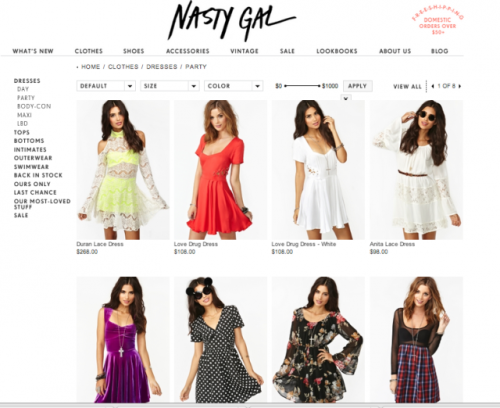 (via Badass LA Fashion Site Nasty Gal Picks Up A Badass $40M From Index Ventures For World Domination | TechCrunch)