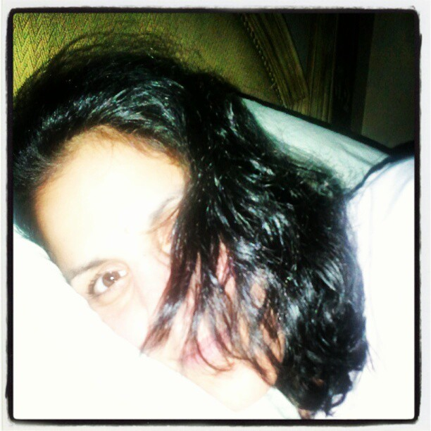 Chillin' & pillow-bound #longhairdontcare #sleepy #tired #calm #chill #chilling #relaxed  (Taken with Instagram)