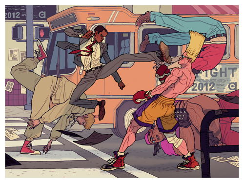 Street Fight 2012 by Afu Chan Artist website / tumblr