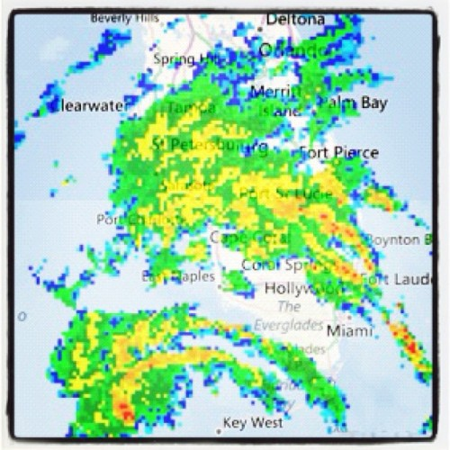 Tropical Storm #Isaac over Florida radar image  (Taken with Instagram)