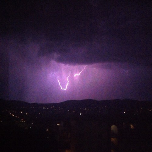 My night. #slc #utah #801 #lightening #storm #saltlakecity (Taken with Instagram at Soviet Dollhouse)