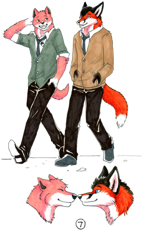 A walk in the fall - Sketchbook Page 7 — chipfox