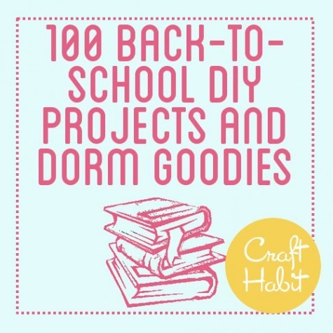 (via 100 Back to School DIY Projects and Dorm Goodies : CraftHabit.com)