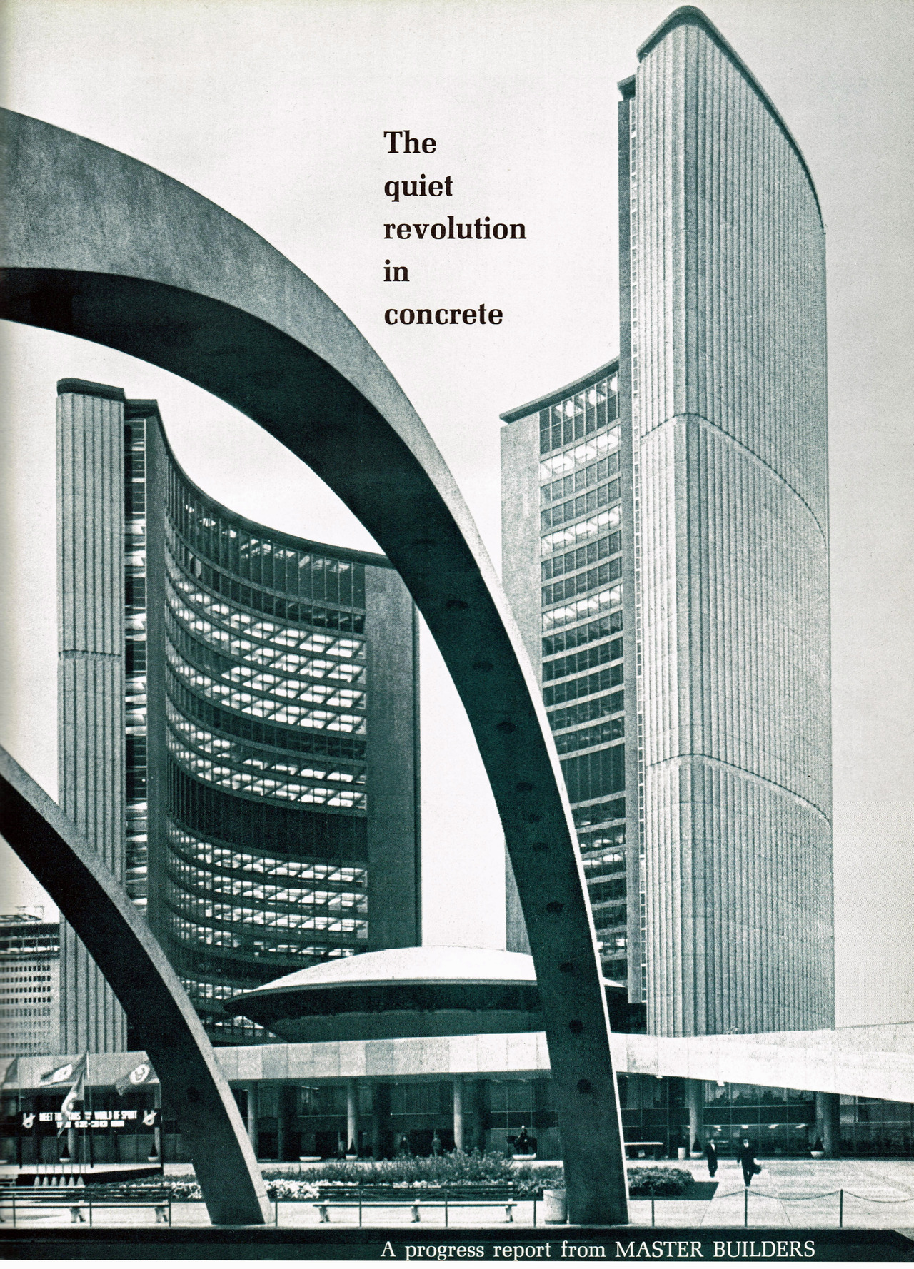 Toronto City Hall from Progressive Architecture magazine, October 1966