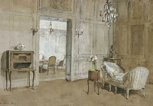 walter gay la chaise longue room in the chateau still life quick heart. Black Bedroom Furniture Sets. Home Design Ideas