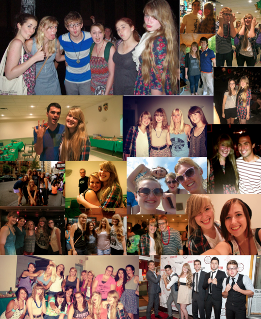 Summer 2012 was by far the best three months of my life. Strangers turned into best friends, days turned into nights and life turned into memories. So, as some of us pack up and move into a tiny dorm in a strange city or some of us go back to the same high school this fall, let's not forget these moments. So, one last time..Here's to many more concerts to come, band boys to chase and summers to remember :)Love you all, to the moon and back. :)