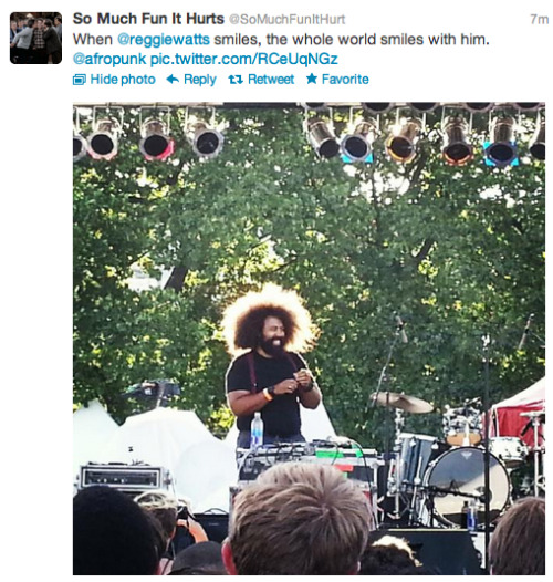 If people dealt with technical difficulties the way Reggie Watts did yesterday, the world would be a better place.