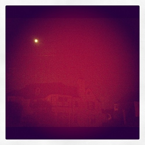 #creepy. #moon #mansion  (Taken with Instagram)