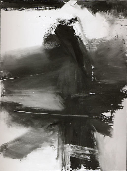 Black, White, and Gray, 1959, Franz Kline. Oil on canvas, 105 x 78 inches (266.5 x 198 cm.)