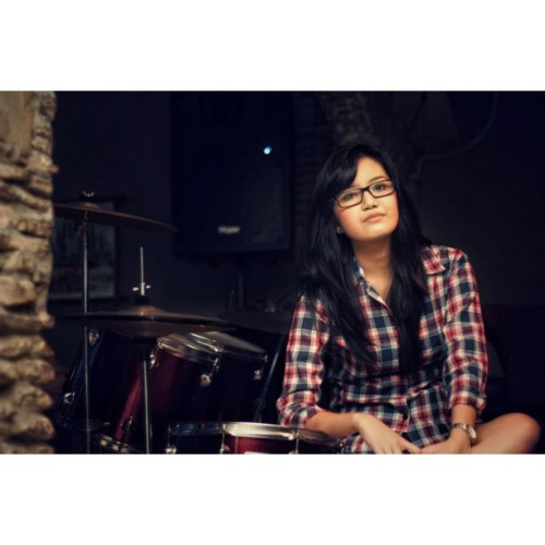 Sexy Drummer #model #DSRL Model: @tlvl  (Taken with Instagram)