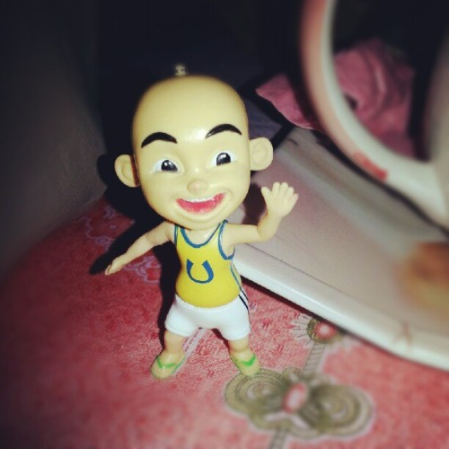 sufidylan:  It is #Upin '#actionfigure' from Upin & #Ipin. XD (Taken with Instagram)