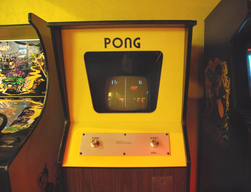 Pong Arcade Machine @Funspot - Weirs Beach, New Hampshire Image by Patti Gravel (via:iamsoretro)