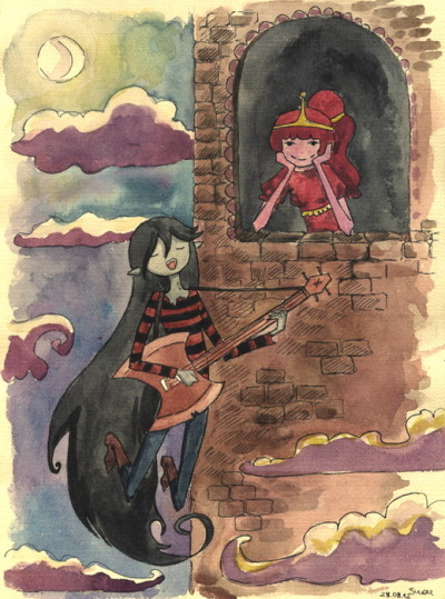 fuckyeahmarcelinebubblegum:  AdventureTime by ~Green-poision  eee!~ this is wicked