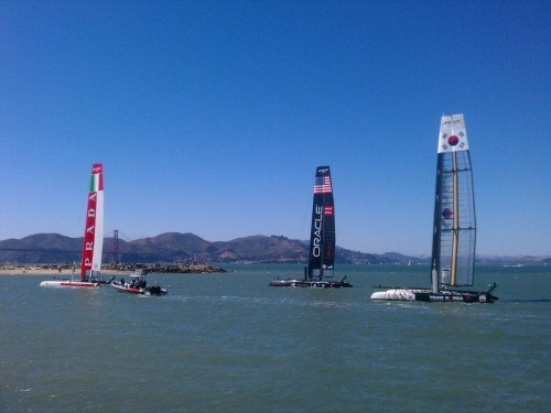 Beautiful day today in the Bay at America's Cup