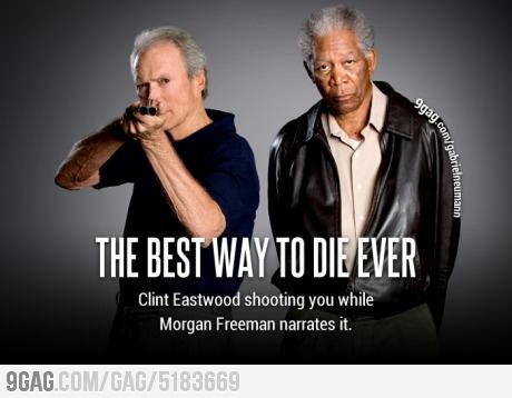 9gag:  How to die like a badass