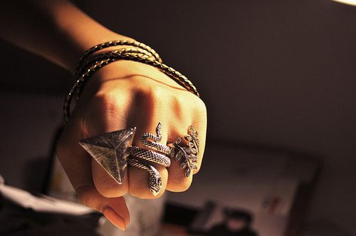 Fashion,Girl,Hand,Hipster,Rings,Snake,Triangle,