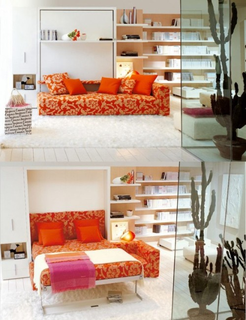 homedesigning:  Space Saving Sofa