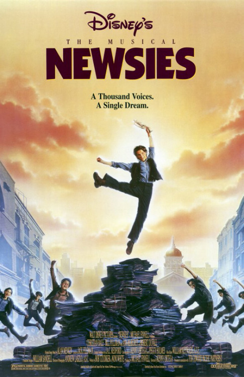 Newsies (1992)  In 1899, New York City got its news from an army of ragged orphans and runaways, called newsies. They sold the newspapers of Joseph Pulitzer, William Randolph Hearst, and other great publishers. Like many of his friends, newsie Jack Kelly (Christian Bale) dreams of a better life far from the hardship of the streets. But when Pulitzer and Hearst raise distribution prices at the newsies' expense, Jack finds a cause to fight for, and must decide between his dreams and his newfound responsibility.  Cast: Christian Bale, David Moscow, Luke Edwards, Max Casella, Gabriel Damon, Marty Belafsky, Arvie Lowe Jr. Follow this blog for the neverending list of all the teen movies ever made!