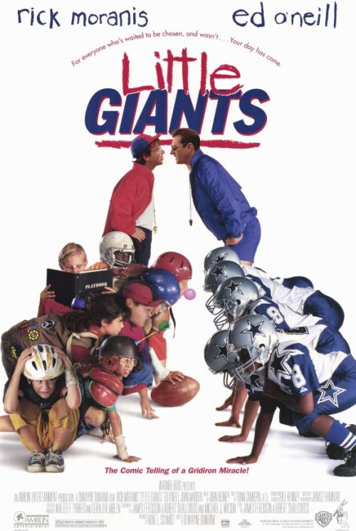 Little Giants (1994)  Danny O'Shea has forever lived in the shadow of his brother, the great football player Kevin O'Shea. Kevin was stronger, faster, and more popular. But when his daughter is cut from Kevin's pee-wee football team, Danny brings together a squad of picked-lasts and losers to prove to Kevin that he can still learn a lot from his brother.  Cast: Shawna Waldron, Devon Sawa, Sam Horrigan, Todd Bosley Follow this blog for the neverending list of all the teen movies ever made!