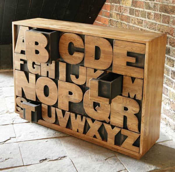 "Alphabet Drawers by ""Kent and London"""