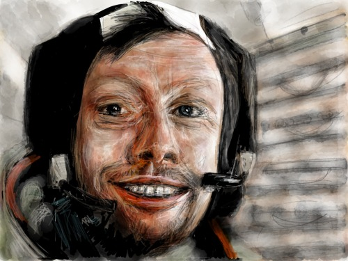"""Tribute to Neil Armstrong"" Made with Paper A new kind of making-of has been tested. More than 5000 pictures of the drawing process have been taken, using a webcam. The resulting animation will be featured on the Paper Lab within a few hours… Stay tuned !"