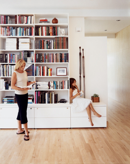 Reading was a family affair, to be practiced with books and poses determined by one's status.(Photo: Zubin Shroff; Dwell)