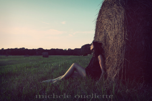 A shoot with my best friend!! We happened upon this freshly rolled hay field right at the magic hour.  We had already shot on the beach and were on our way back when I made her pull over.